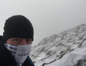 Paul Kemshell near the top of Whernside
